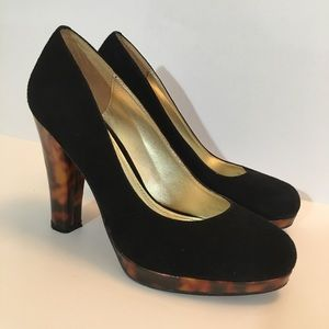 Elaine Turner Suede Platform Shoes